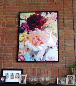 """Red Rose"" 36"" x 48"". Simple Box Frame included: $500.00"