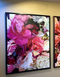 """Big Pink Rose"" 36"" x 48"" Collectible Giclee Print, Limited Ed., $500.00. Black Box Frame included"