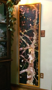 """Sycamore"" Oil on Canvas 18"" x 69"" $1,200.00. Box Frame included"
