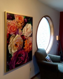 """Velvet #1"" Collectible Giclee Prints: 36"" x 48"" : $500.00. Gold Box Frame included"