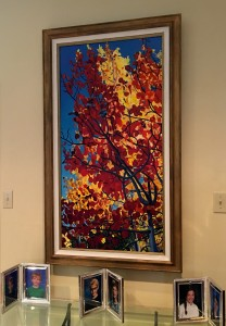 """Falling"" Framed. Collectible Giclee Print , Limiited Ed., 24"" x 48"": $500.00"