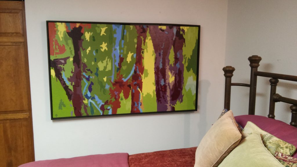 """36"""" x 60"""" Oil on Canvas. Black Box Frame included."""