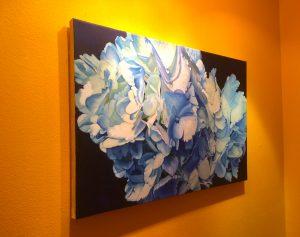 """Hydrangeas #2"" 24"" x 36"" Oil on Canvas"