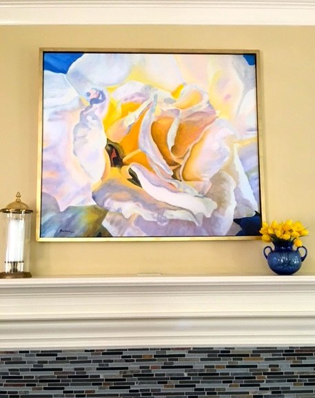 """""""White Rose"""" Collective Giclee Canvas Print, Limited Ed., 42"""" x 36"""""""