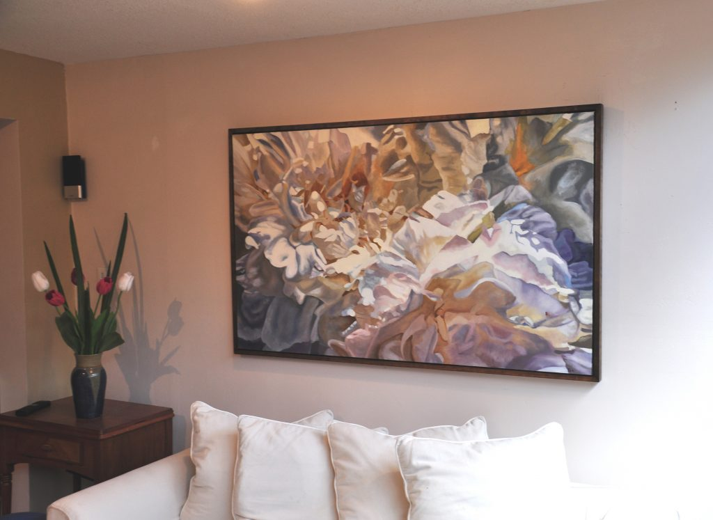 peonies giclee canvas print 36 x 60 kathy trageser gallery. Black Bedroom Furniture Sets. Home Design Ideas
